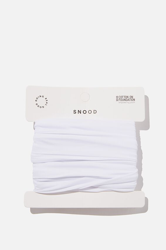 Foundation Snood, WHITE