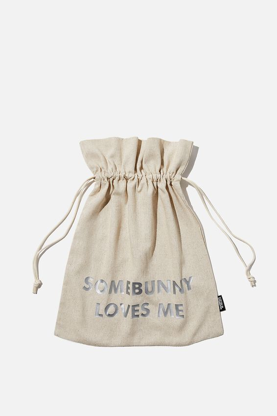 Personalised Foundation Easter Gift Bag, NATURAL
