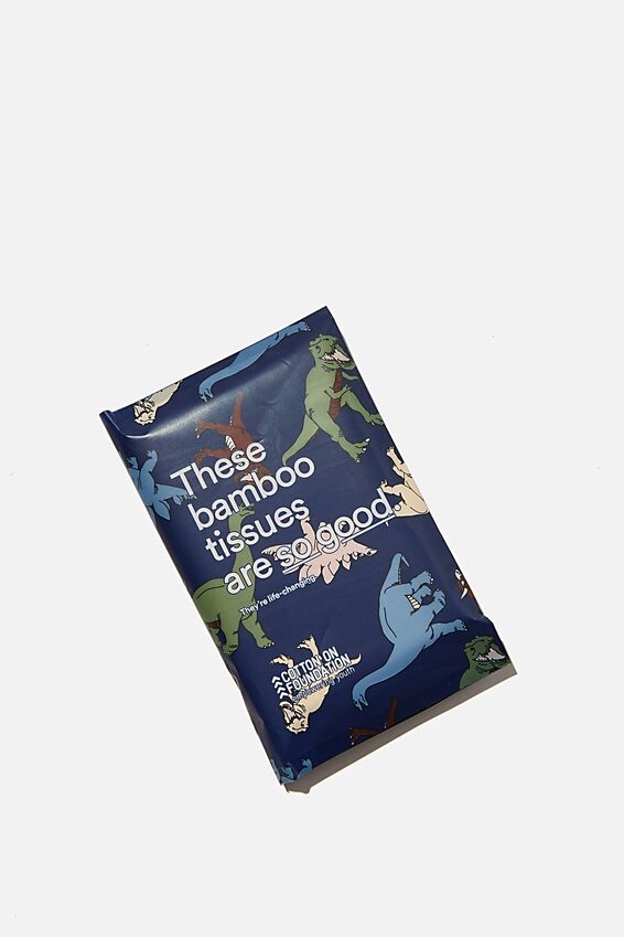 Foundation Bamboo Tissues, KIDS NAVY DINO YDG