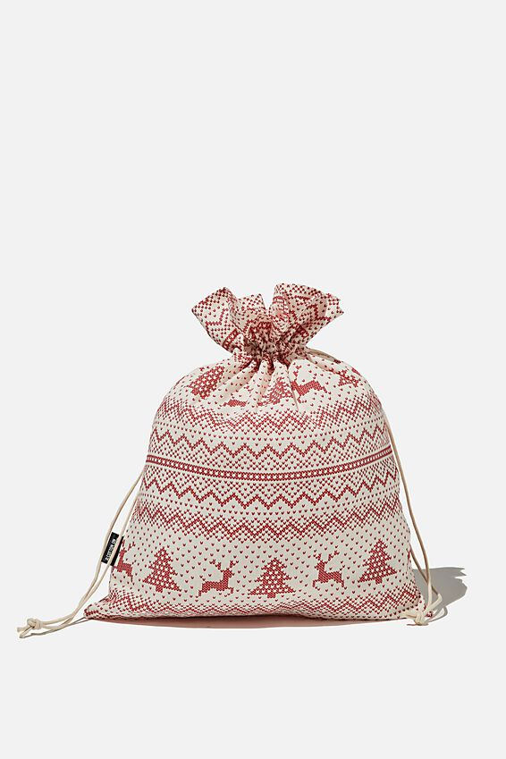 Foundation Medium Gift Bag, CHRISTMAS FAIR ISLE