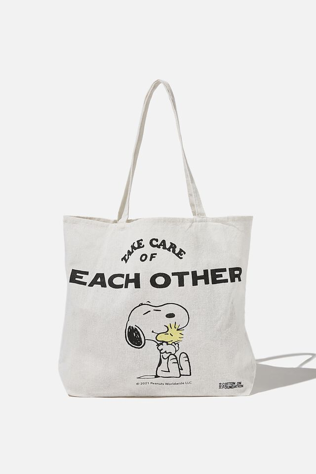 Foundation Co Brands Tote Bag, LCN PEA SNOOPY TAKE CARE OF OTHERS