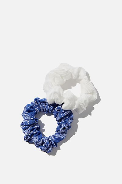 Foundation Factorie Mini Scrunchie 2 Pk, DITSY FLORAL