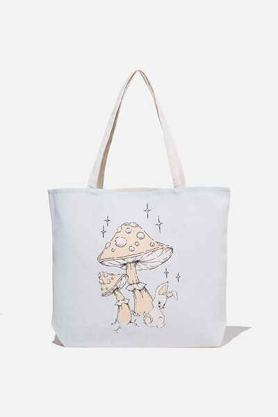Foundation Body Tote Bag, MUSHROOM BUNNY