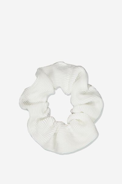 Pf Scrunchie, WHITE RIB