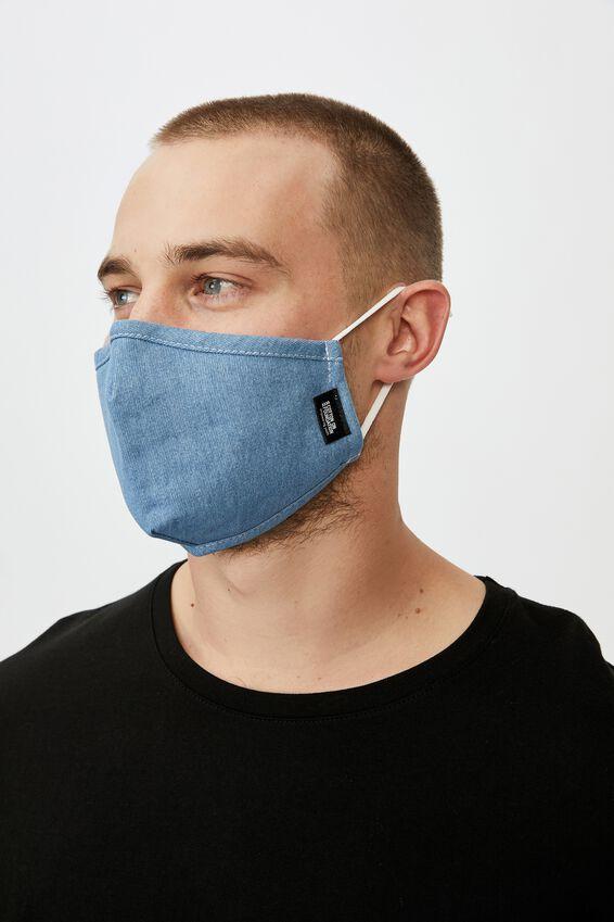 Foundation Face Mask, DENIM