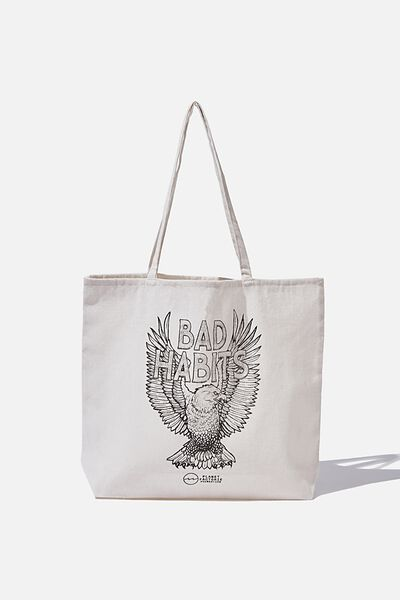 Factorie  Foundation Tote Bags, EAGLE BAD HABITS