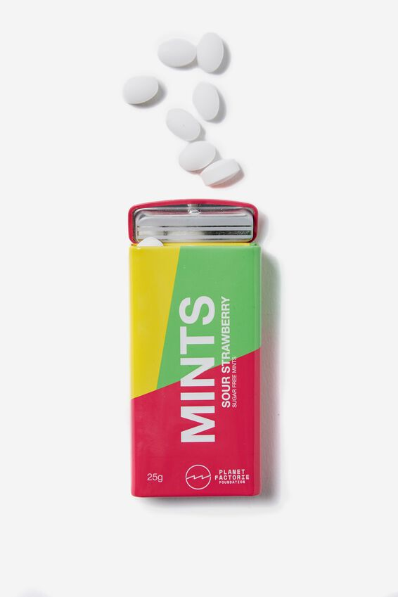 Planet Factorie Mints, SOUR STRAWBERRY
