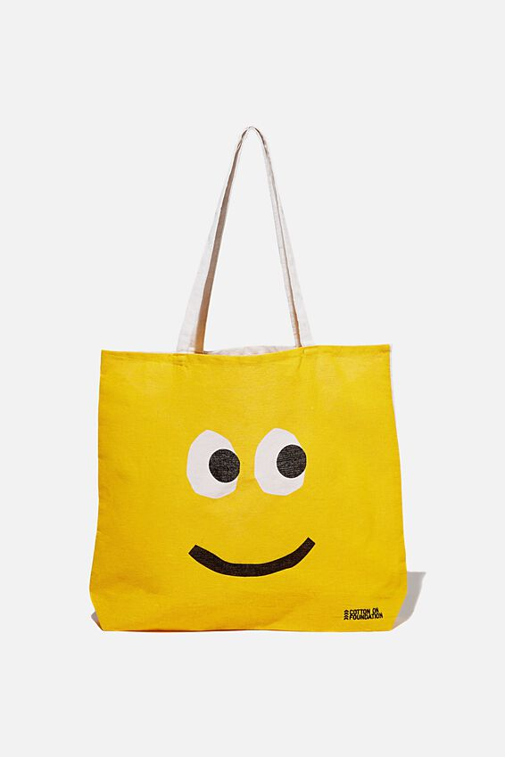 Typo Difference Tote Bag, SMILEY FACE