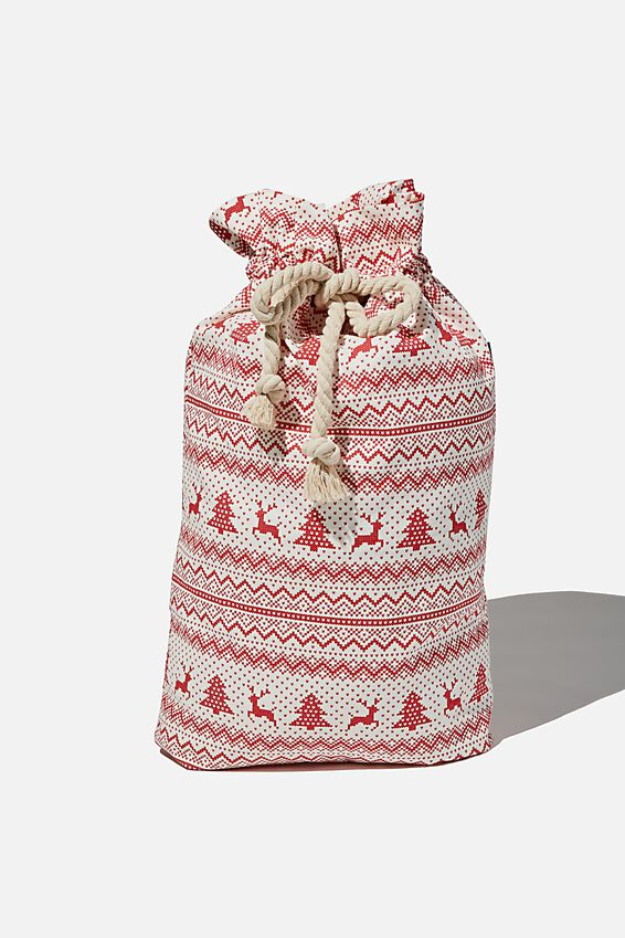 Foundation Santa Sack, CHRISTMAS FAIR ISLE
