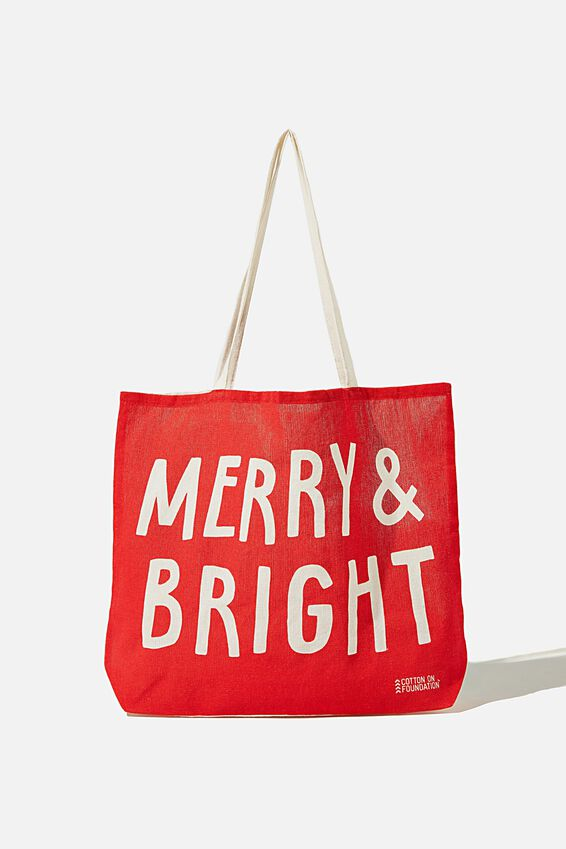 Foundation Kids Tote Bag, MERRY & BRIGHT