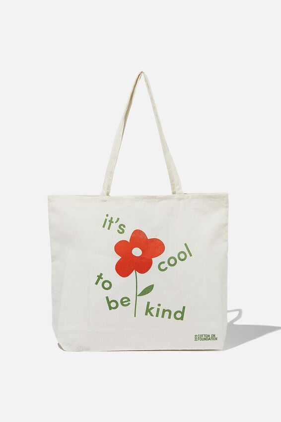 Typo Difference Tote Bag, COOL TO BE KIND