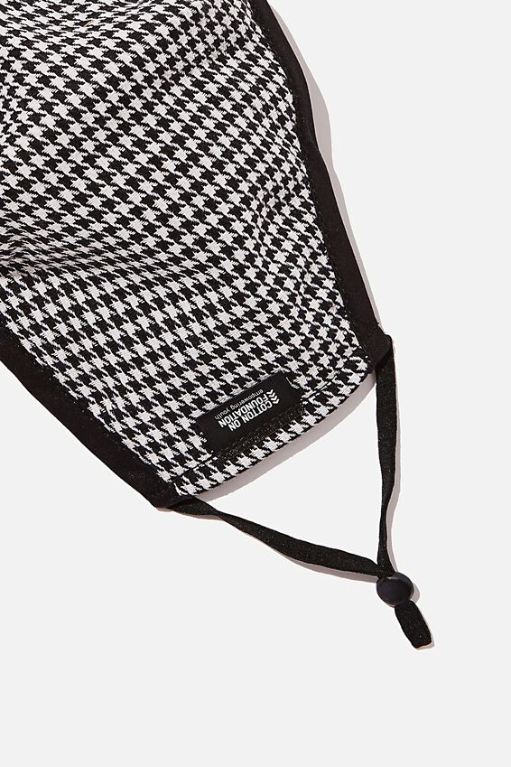Foundation Face Mask Adults, HOUNDSTOOTH