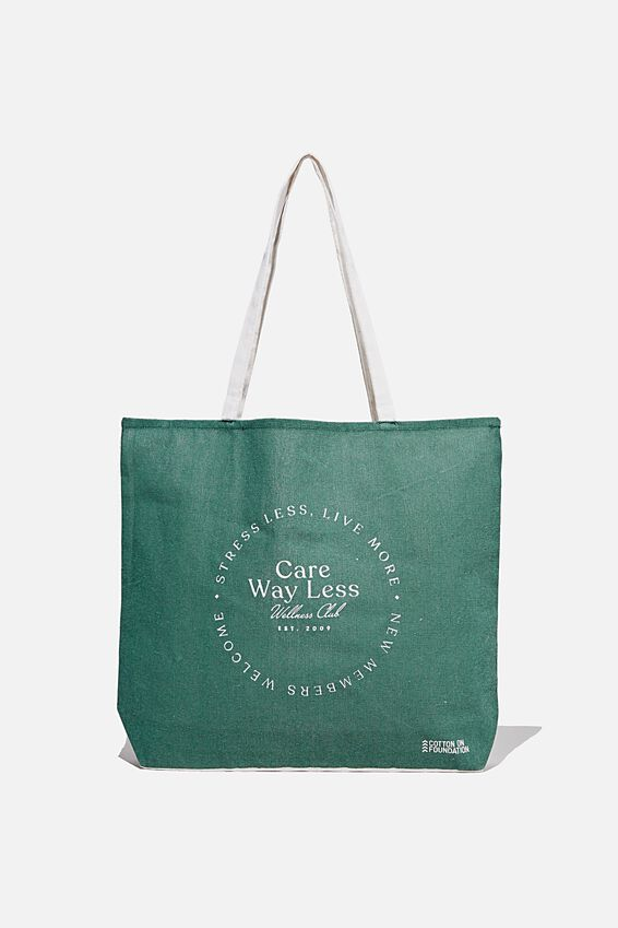 Typo Difference Tote Bag, CARE WAY LESS