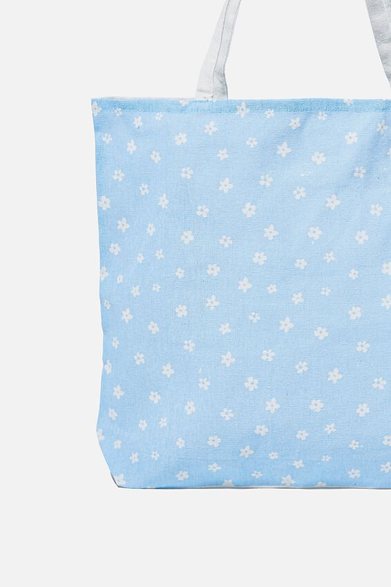 Foundation Body Tote Bag, BLUE DAISY