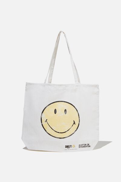 Foundation Co Brands Tote Bag, LCN SM CLASSIC SMILEY