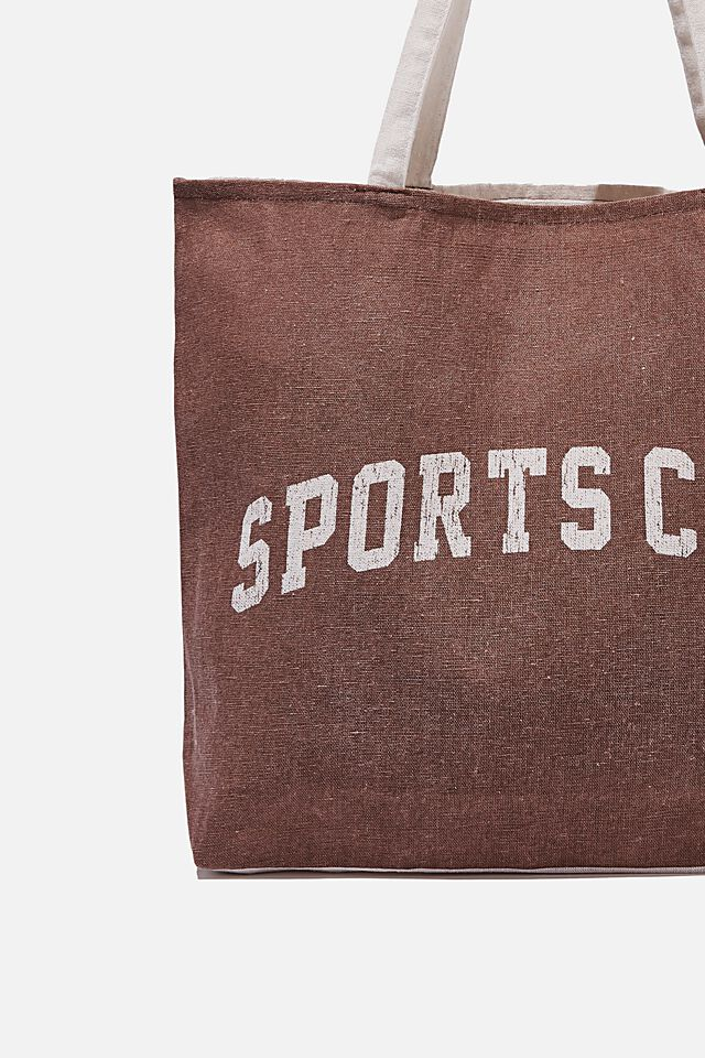 Foundation Co Brands Tote Bag, SPORTS CLUB