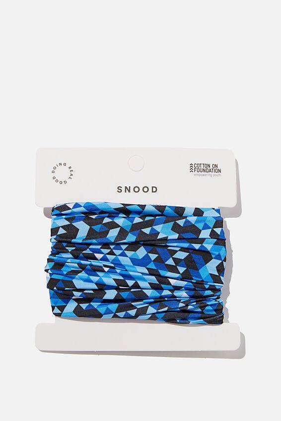 Foundation Snood, BLUE GEOMETRIC