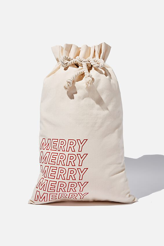 Foundation Merry Merry Santa Sack, NATURAL