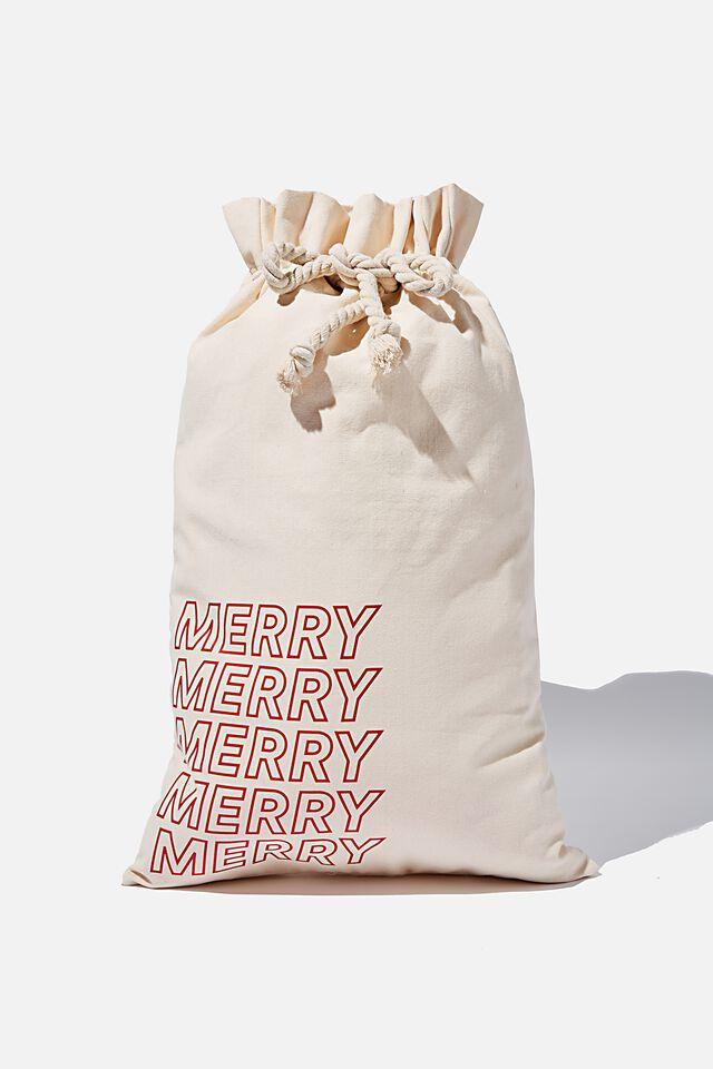 Foundation Merry Merry Santa Sack, NATURAL