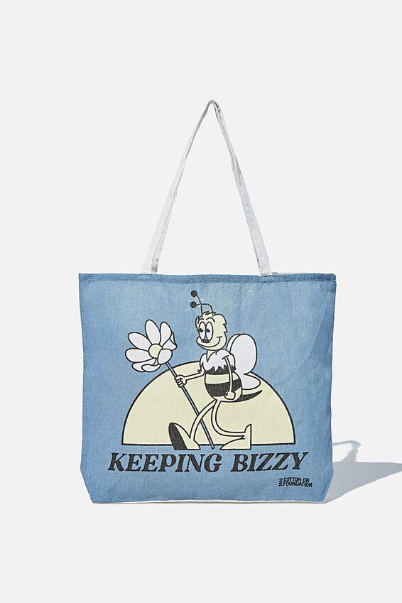 Foundation Kids Tote Bag, KEEPING BIZZY