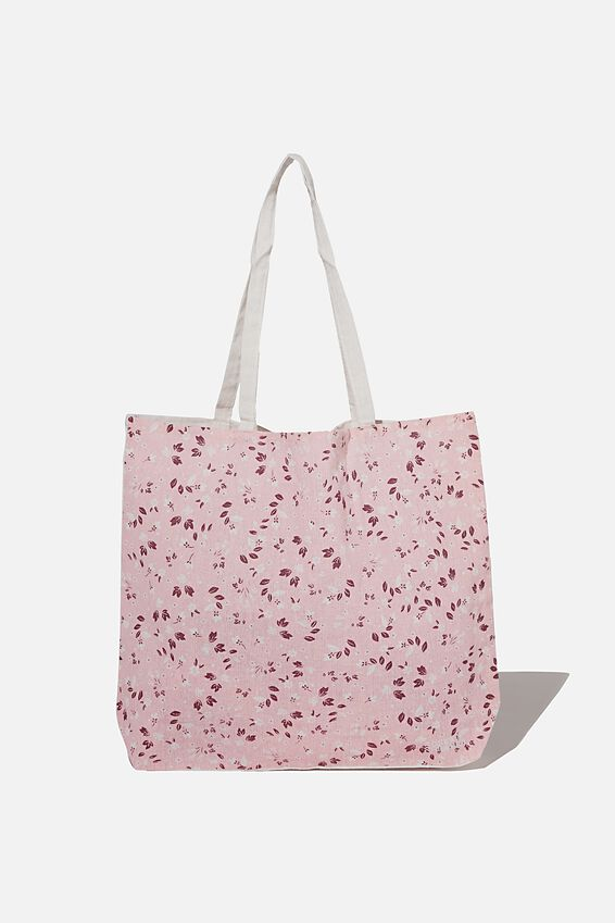 Foundation Co Brands Tote Bag, CLEMMIE DITSY PETAL PINK