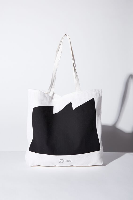 Pf Foundation Tote Bags, BLACK FULL WAVE