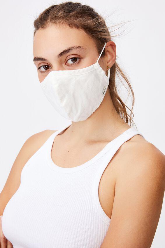 Foundation Hemp Face Mask, WHITE