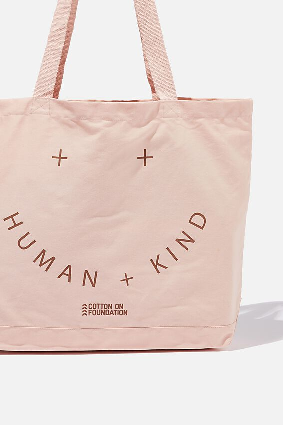 Foundation Exclusive Tote Bag, HUMAN KIND/DUSTY PINK