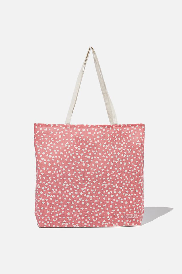 Foundation Kids Tote Bag, LUCKY FLORAL