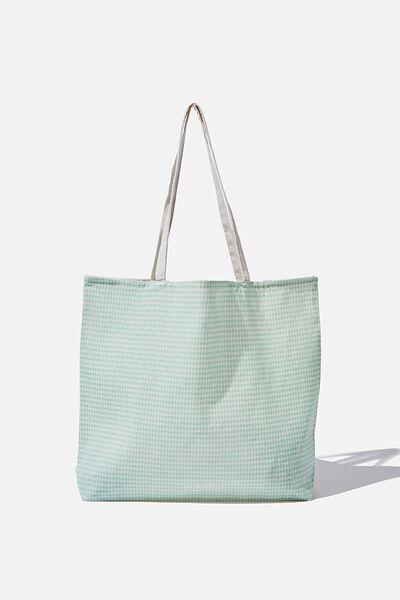 Pf Foundation Tote Bags, MINI GINGHAM