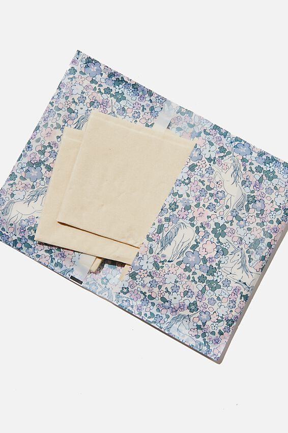 Foundation Bamboo Tissues, KIDS FLORAL UNICORN YDG