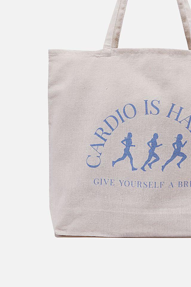Foundation Co Brands Tote Bag, CARDIO IS HARDIO