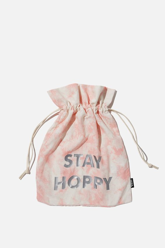 Personalised Foundation Easter Gift Bag, PINK TIE DYE