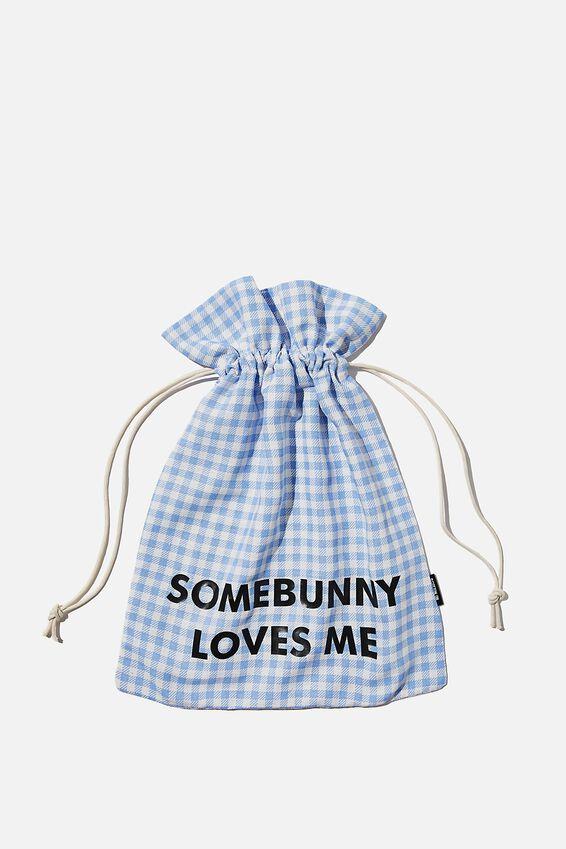 Personalised Foundation Easter Gift Bag, BLUE GINGHAM