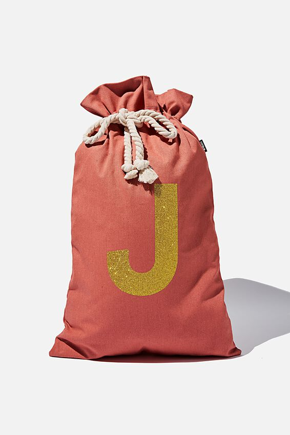 Foundation Personalised Santa Sack Letter, WASHED CORAL