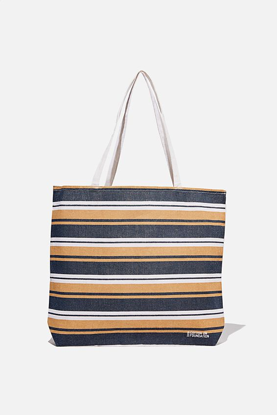 Foundation Co Brands Tote Bag, TERRACOTTA STRIPE