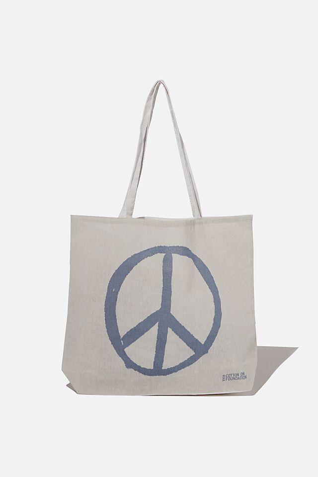 Foundation Kids Tote Bag, PEACE