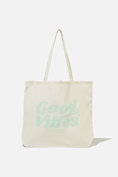 Pf Foundation Tote Bags, MINT GOOD VIBES