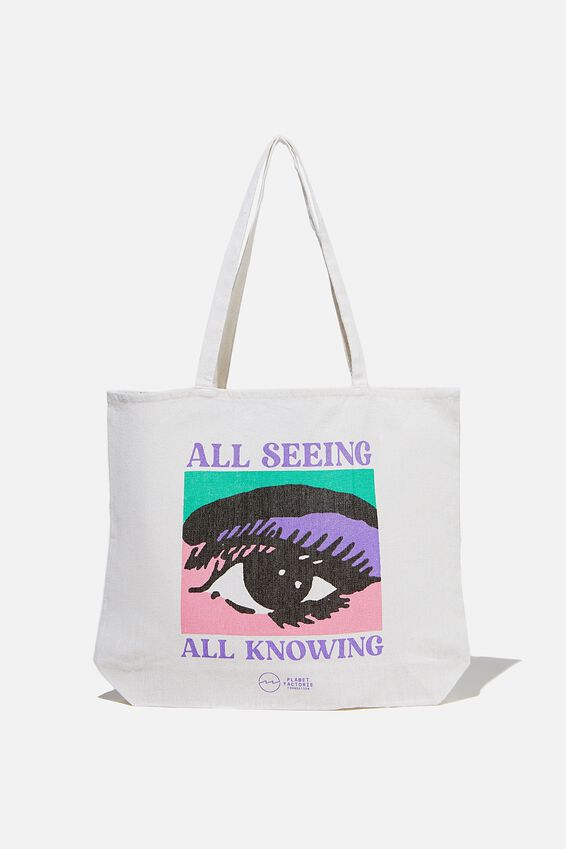 Foundation Factorie Tote Bag, ALL SEEING ALL KNOWING