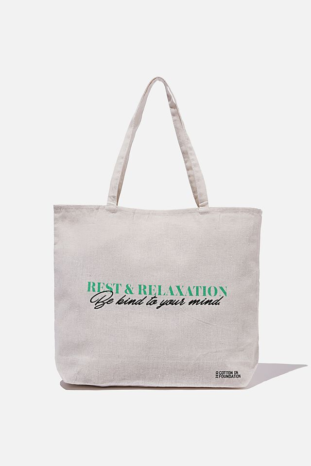 Foundation Co Brands Tote Bag, BE KIND TO YOUR MIND