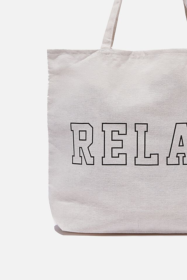 Foundation Co Brands Tote Bag, RELAX