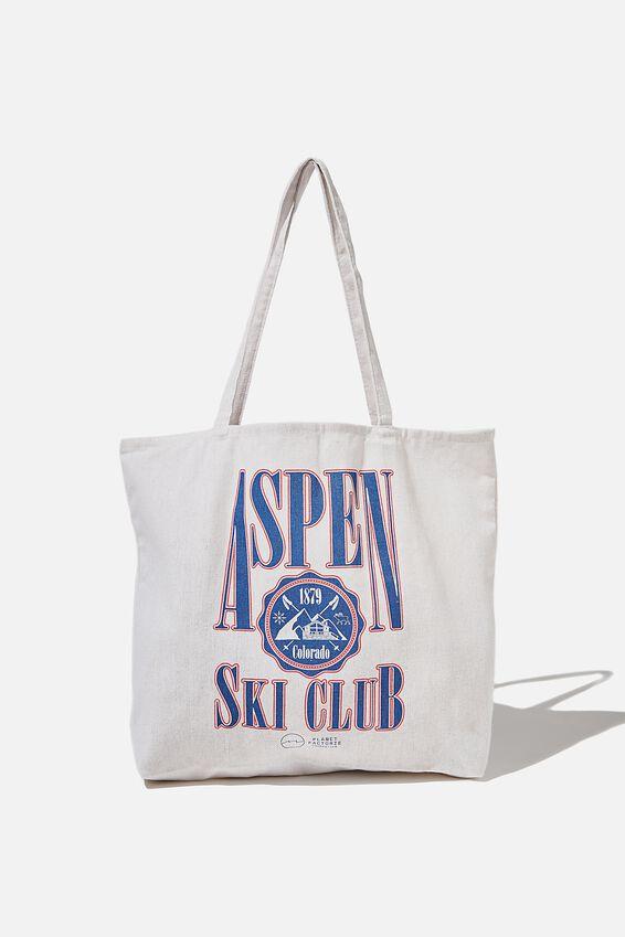 Foundation Factorie Tote Bag, ASPEN SKI CLUB