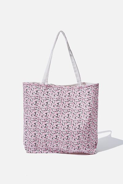 Factorie  Foundation Tote Bags, PINK DITSY