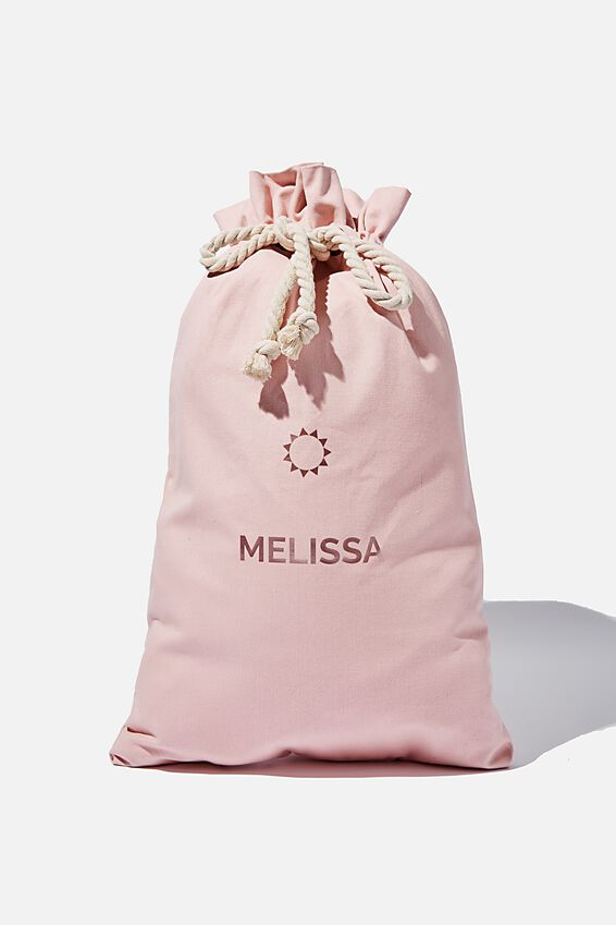 Foundation Personalised Name Santa Sack, SILVER PINK