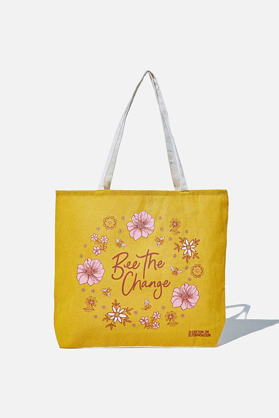 Foundation Kids Tote Bag, BEE THE CHANGE