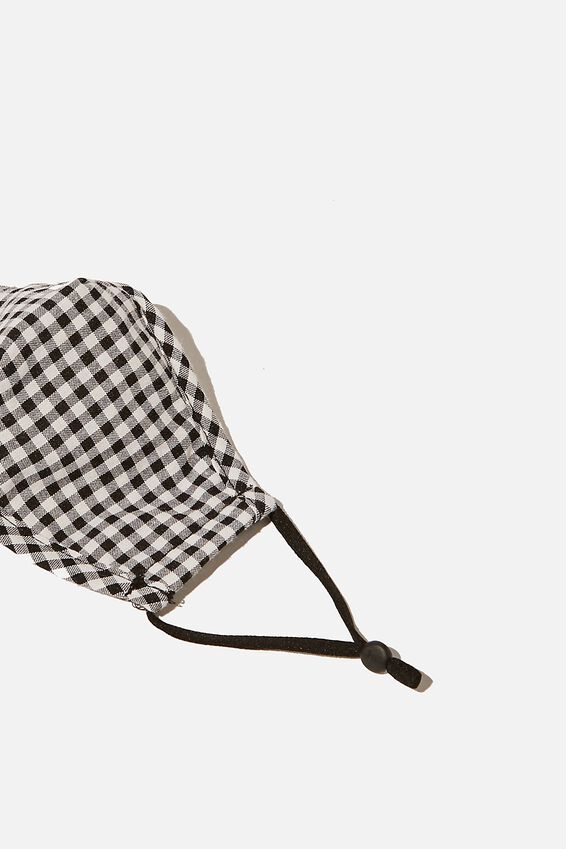 Foundation Face Mask Kids, BLACK & WHITE GINGHAM