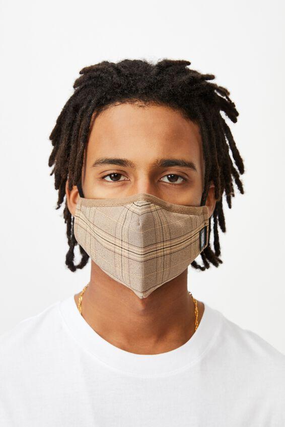 Foundation Face Mask, TAN CHECK
