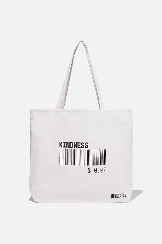 Typo Difference Tote Bag, KINDNESS IS FREE