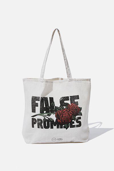 Factorie  Foundation Tote Bags, FALSE PROMISES