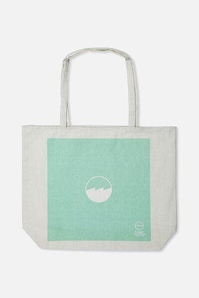 Pf Foundation Tote Bags, MINT CIRCLE  LOGO